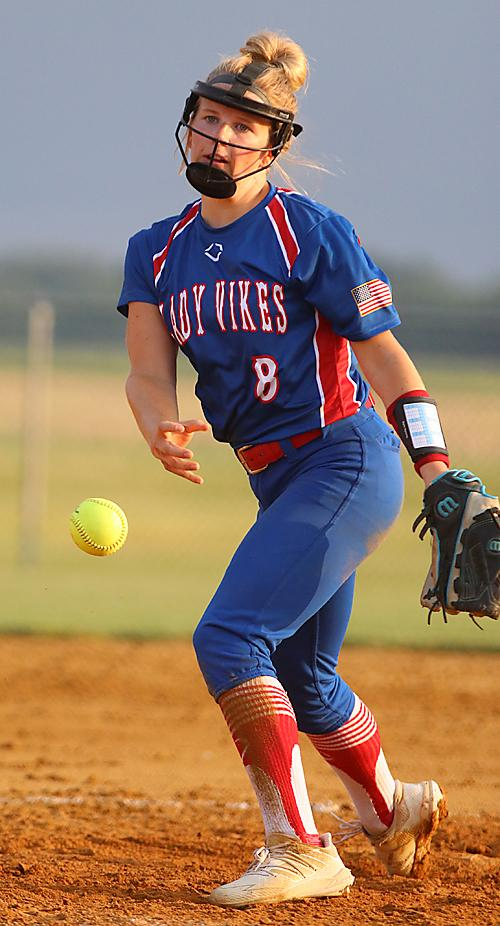 Lady Vike senior Ally Meyers pitched a complete game for the win against T-C.