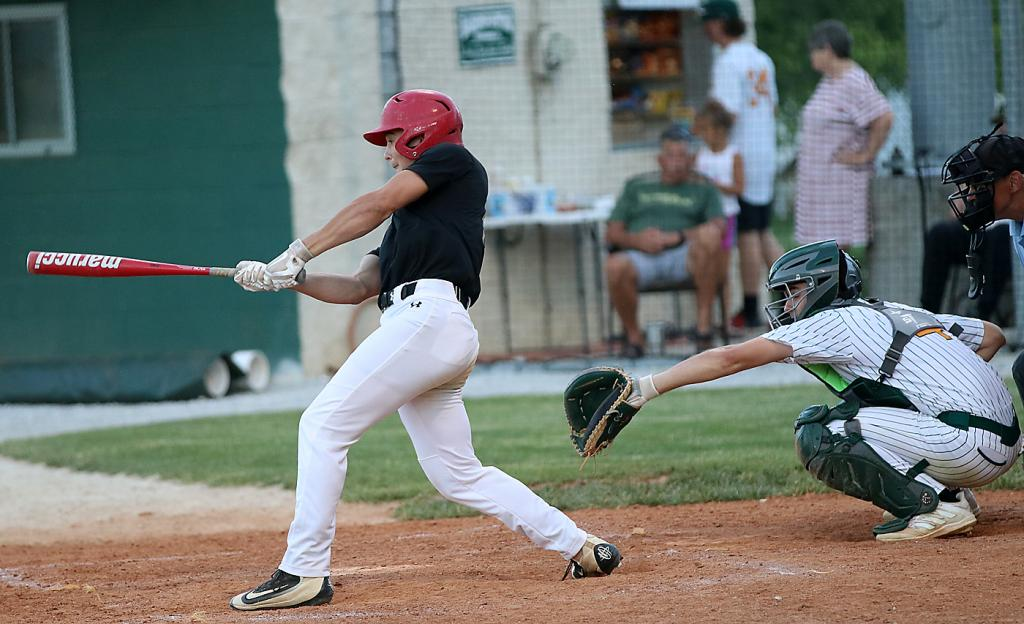 HCHS junior Alex Monson (left) had two hits and drove in a run as the Cyclone designated hitter Thursday night.