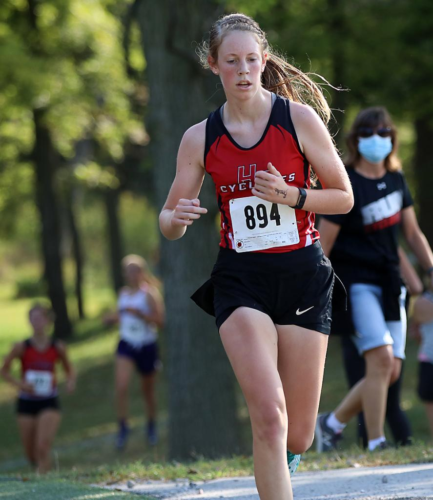 Senior Olivia Anderson finished 27th for the Cyclone girls.