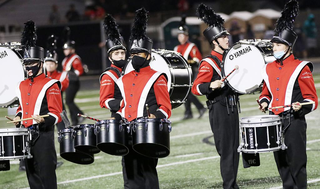 The band performs during halftime of last week's home game.