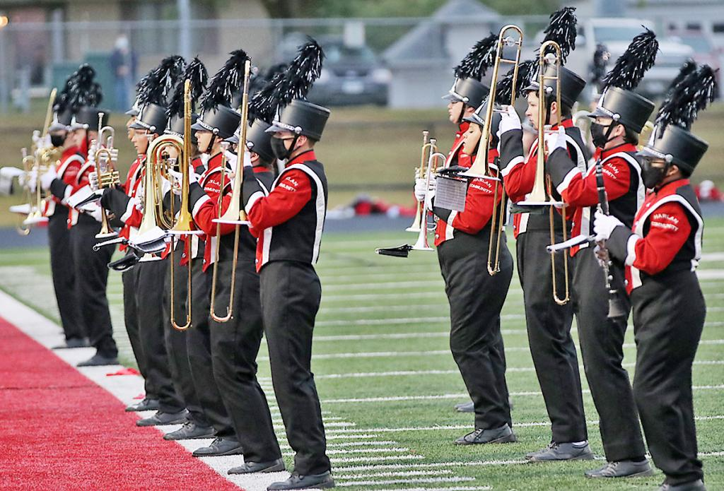 The Harlan Community Cyclones Marching Band has had a successful season, performing at pre-game and halftime of home football games.  This year the state marching contest is being held virtually, and the band recorded its show last Saturday to be sent in to the Iowa High School Music Association to be judged.