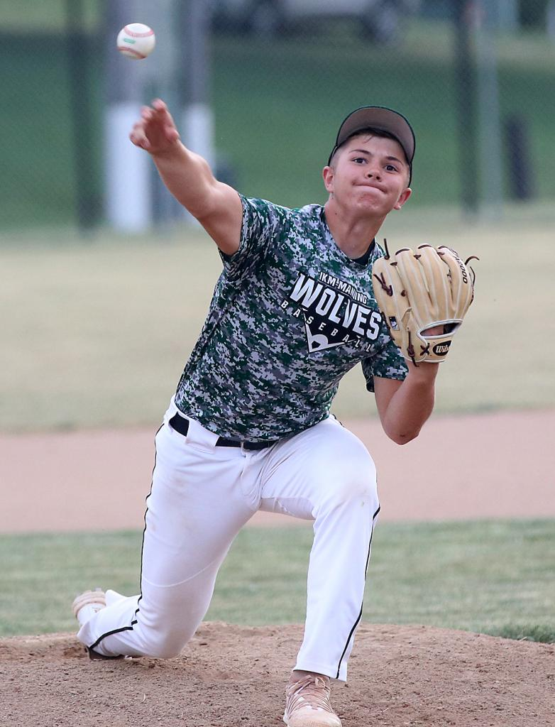 IKM-M starting pitcher Cooper Perdew worked the first five and one-third innings vs. the Panthers.
