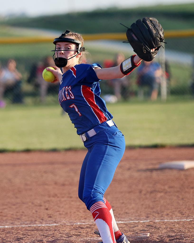 Sienna Christian delivers a pitch against the Panthers.