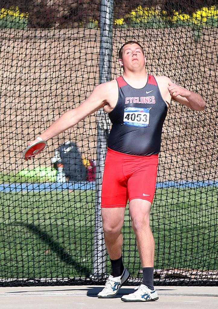 HCHS senior Derec Weyer placed 14th in the Drake Relays' discus competition with a throw of 150 feet, seven inches.