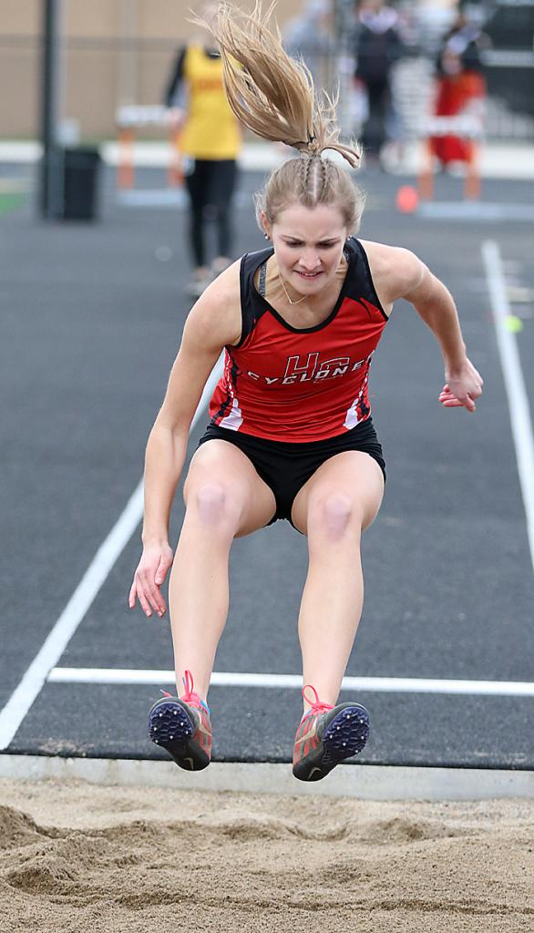 Grace Eckermann placed seventh in the long jump for HCHS.