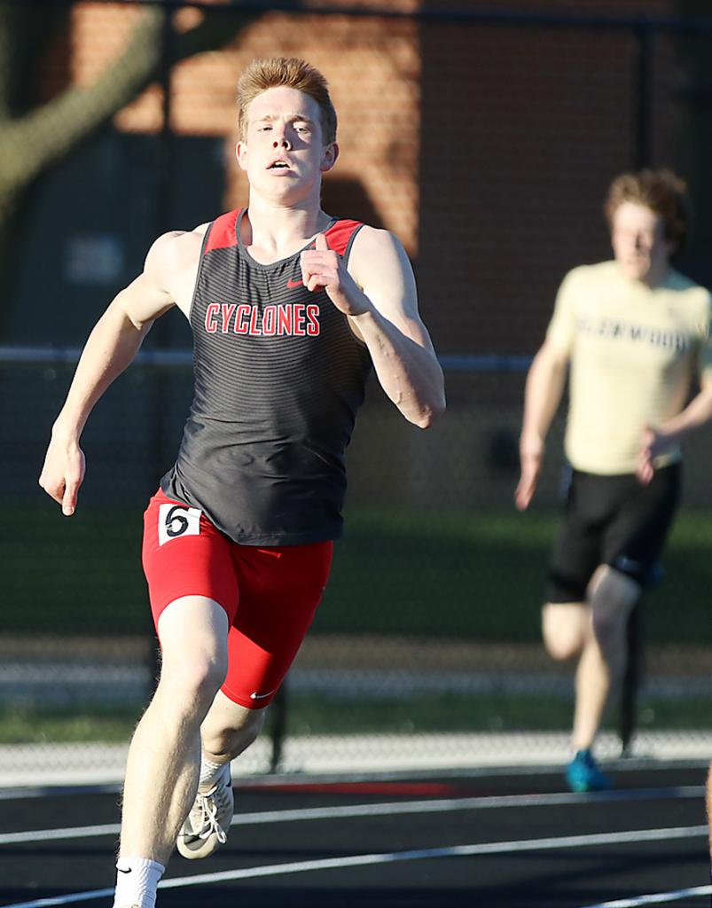 Michael Erlemeier placed fifth in the 400-meter dash for HCHS but qualified the event for state with the seventh-best time (50.64) in Class 3A.