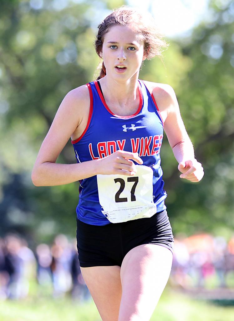 AHSTW junior Chloe Falkena finished 25th at the Cyclone Invite.