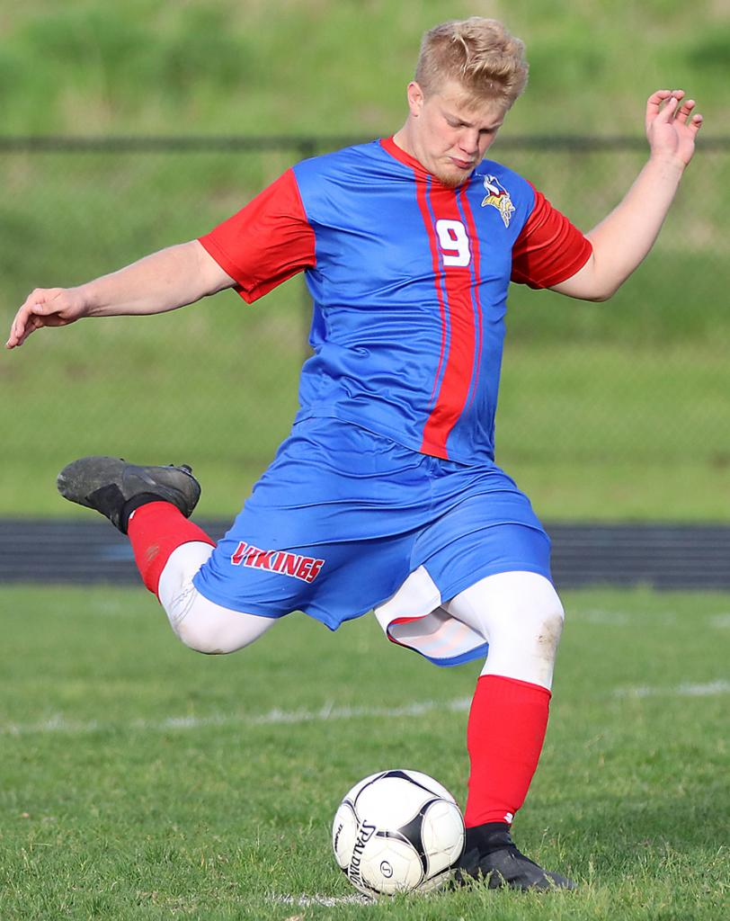 Gabe Madsen converts his PK attempt to clinch the victory.