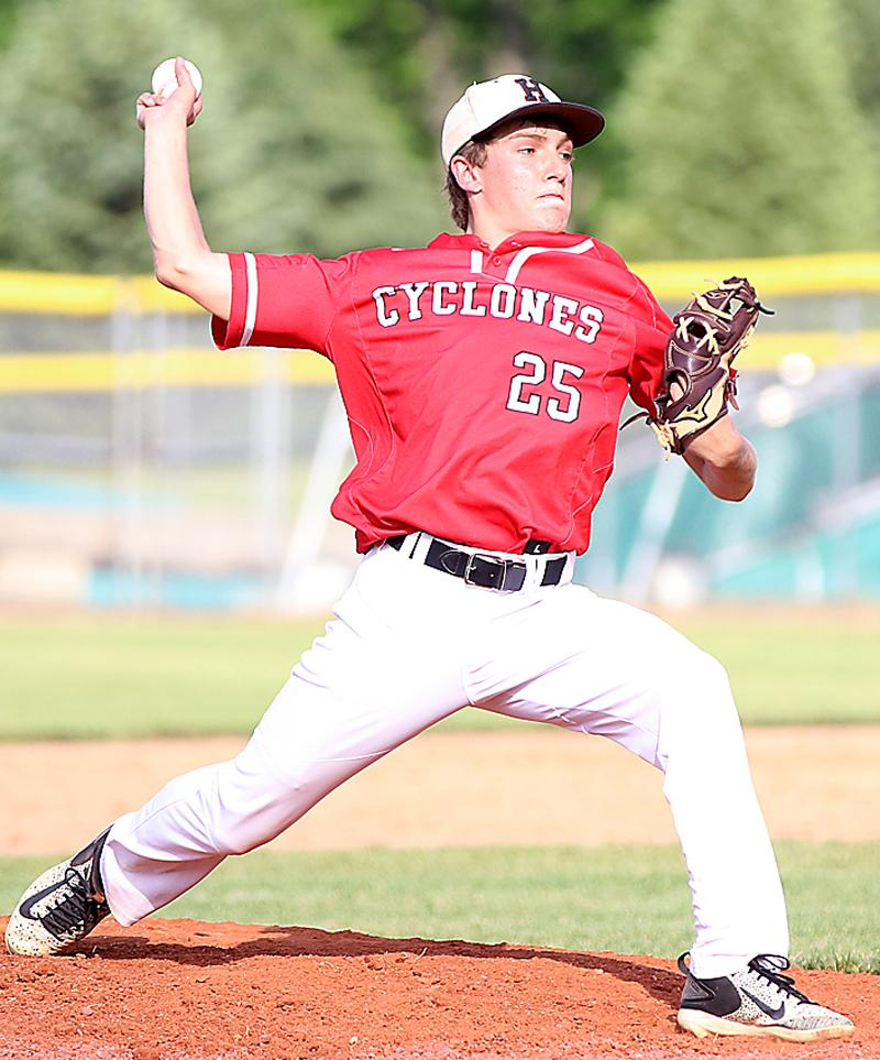 HCHS sophomore Trey Gross pitched two innings of relief and earned his third win of the year against Sergeant Bluff-Luton on Friday. (Photos by Mike Oeffner)