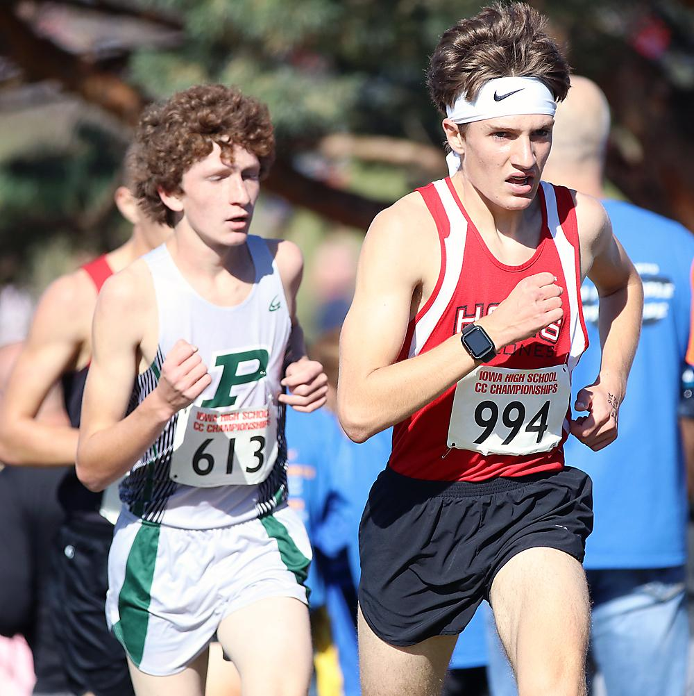 HCHS sophomore Trey Gross (994) placed 41st in his state cross country meet debut Saturday at Lakeside Municipal Golf Course.
