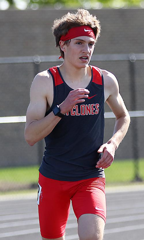 HCHS sophomore Trey Gross qualified for state in the 3,200-meter run after placing third.