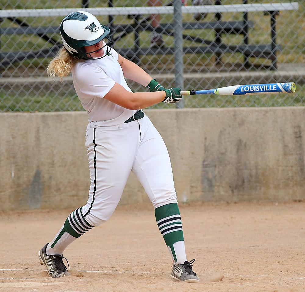 IKM-Manning's Alexis Gruhn hits a double.