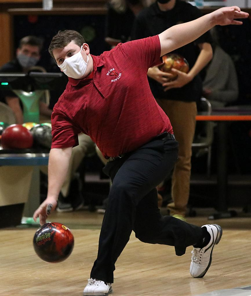 Joseph Andersen of HCHS bowled two-game series scores of 323 vs. Abraham Lincoln and 275 against Denison.