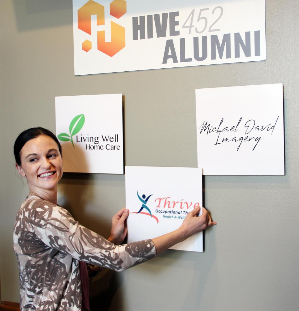 Erica Stevens with Thrive Occupational Therapy, Health & Wellness says the business has grown with the help of the Hive452 incubator.