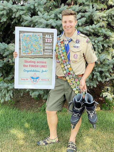 Jack Klitgaard, the son of Dr. Don and Laurel Klitgaard, has completed all 137 merit badges that Scouting has to offer.