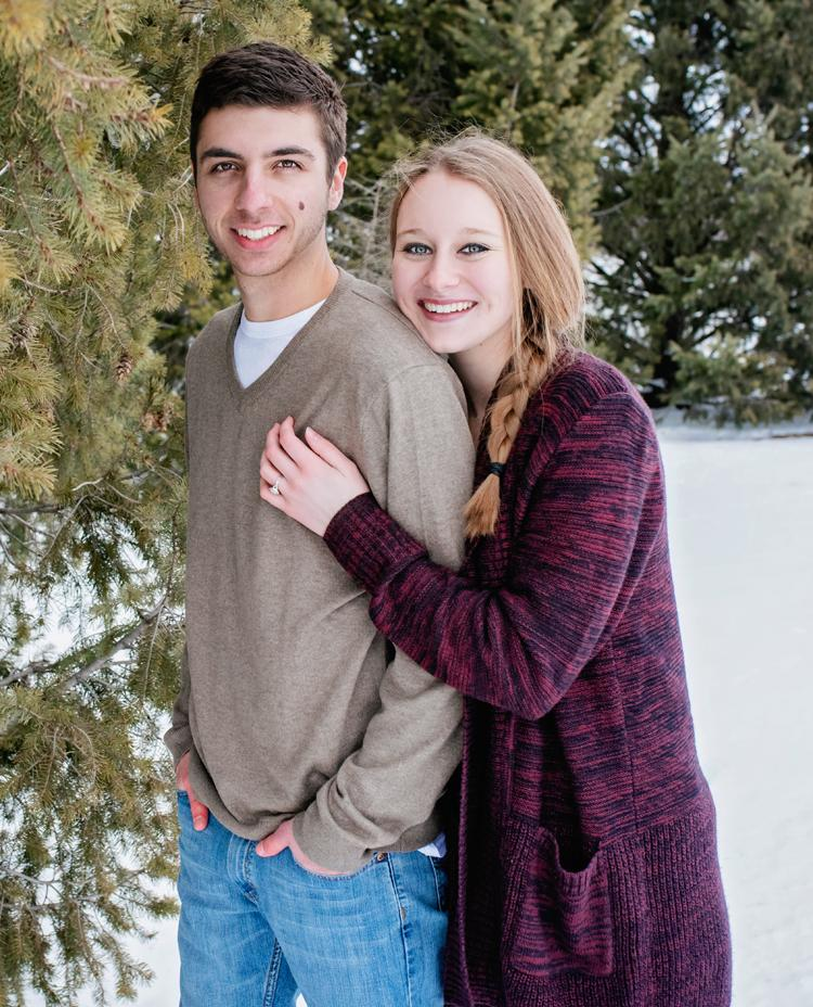 Colton Clack and Tara Knudson