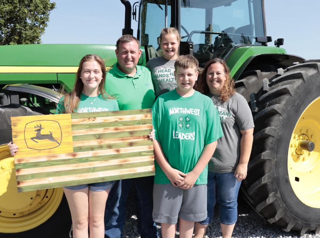 The Mulligan family is ready for the county fair -- L to R -- Mallory, Andy, Meredith, Mitchell and Tiffany.