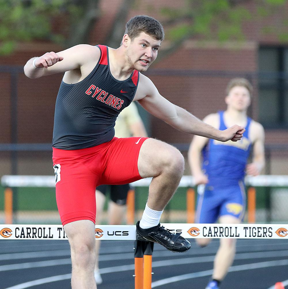 HCHS senior Jon Owens placed third in the 400 hurdles during Friday's district meet at Carroll and also qualified for state.