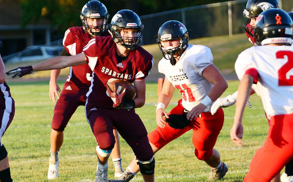 Exira-EHK running back Dane Paulsen finds some open space to run vs. Coon Rapids-Bayard.