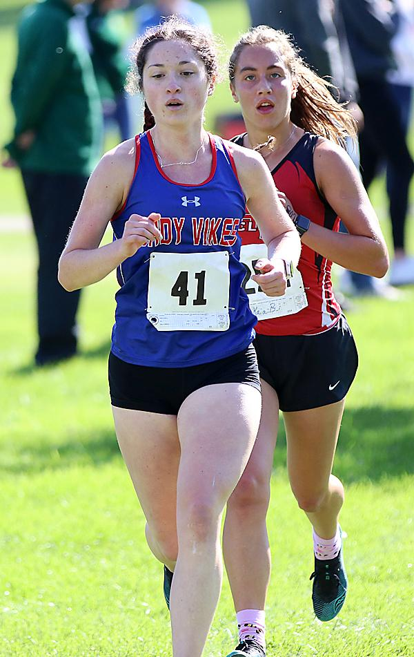 Ryann Portch (left) placed seventh for AHSTW and Kaia Bieker of HCHS took fourth.