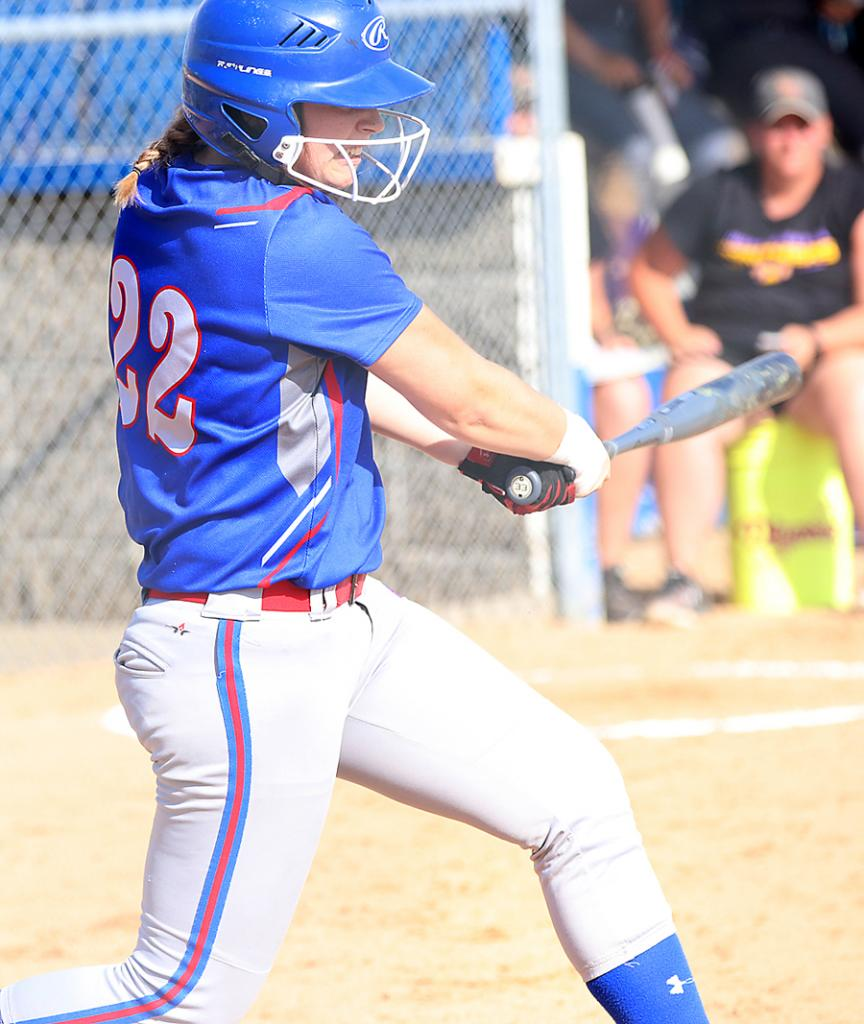 Sydney Zimmerman hits a fourth-inning double for AHSTW.