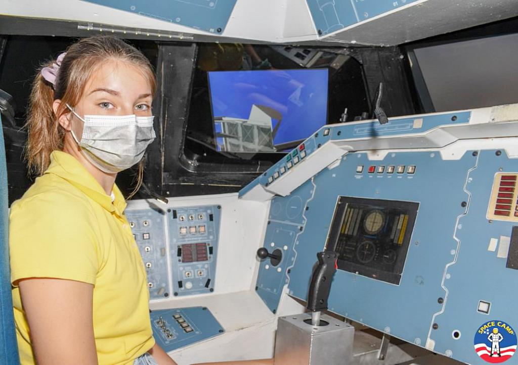 Harlan's Darbie Argotsinger participated in the Advanced Space Camp®  in Huntstville, AL earlier this month.