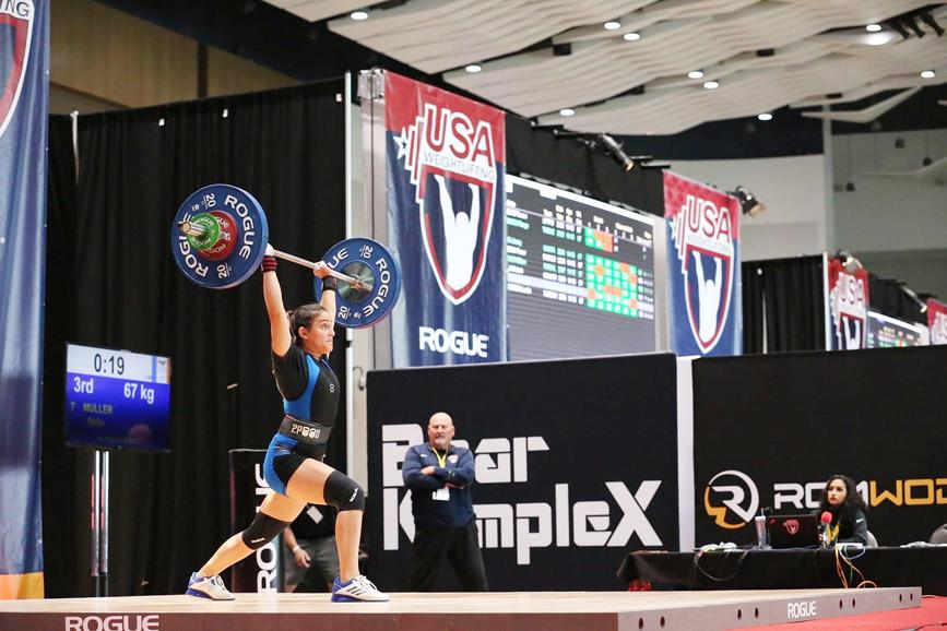 Bella Muller competed in the USA Olympic Weightlifting Youth Nationals in Detroit, MI earlier this month where she finished sixth in her division.