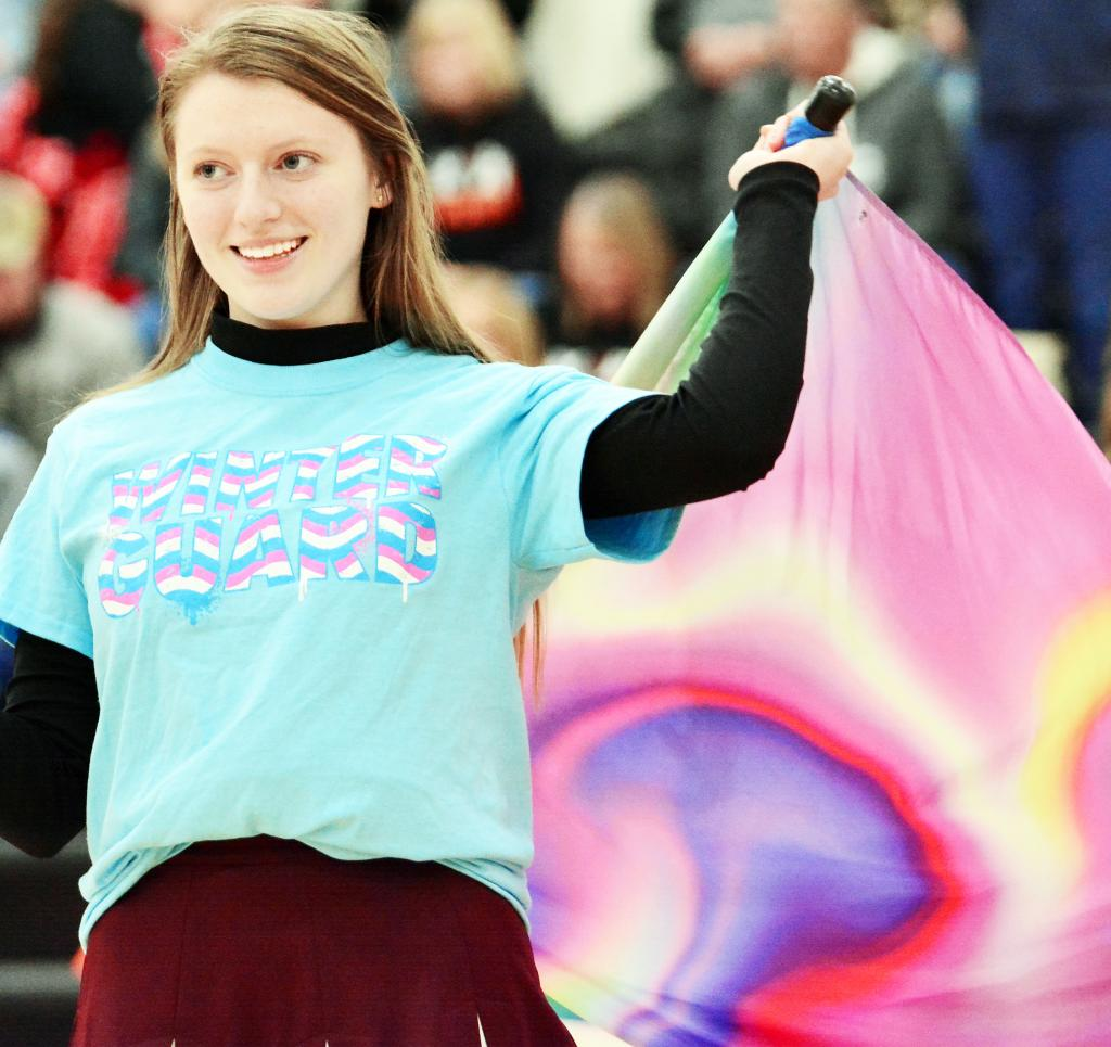 Haley Harris, who performed as part of the winter guard