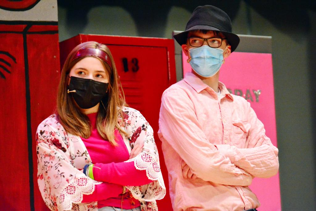 Sharpay, played by Martha Pace, and Ryan, played by Ryan Kilmer, question auditions for the school musical.