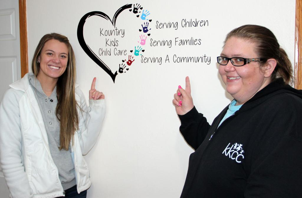 Samantha Nerem (left) has been named director and Jessica Nelson associate director of Kountry Kids Childcare in Harlan.