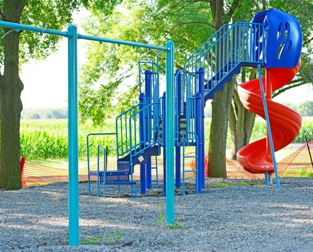 Playground equipment recently was installed at Little George Park in south Harlan, the culmination of years of planning and fundraising that started after a request from two youngsters who wanted a playground close by to their homes.