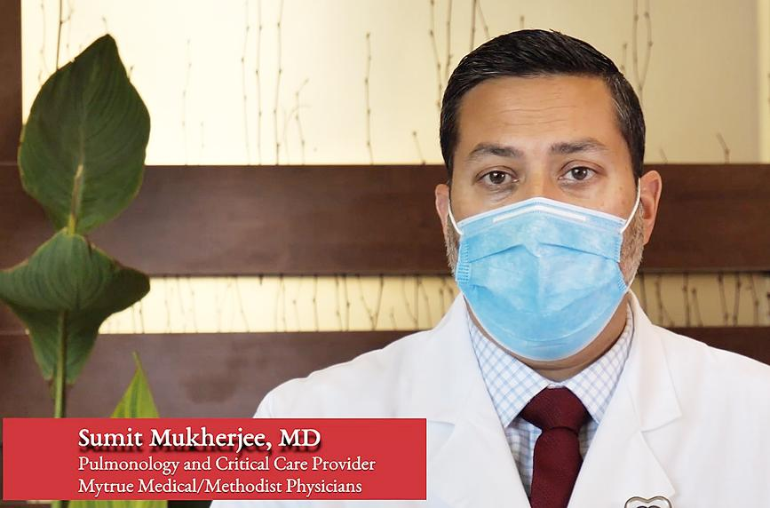 Dr. Sumit Mukhergee is a pulmonary and critical care provider who says he's concerned about the rising hospitalizations due to the increase in COVID-19 infections.