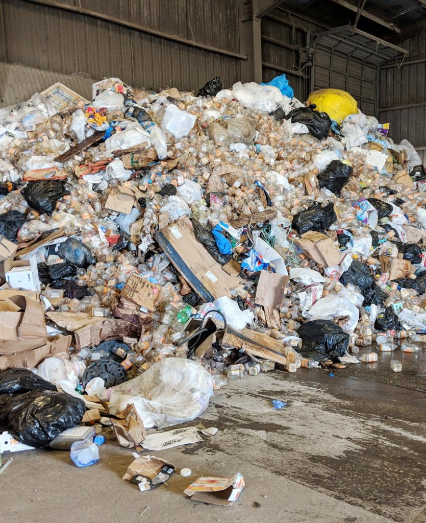 Hundreds of plastic bottles recently were dumped into the trash at the Shelby County Landfill instead of being recycled.  County officials said the residents have to make a more concerted effort to recycle or the county will face higher fees from its recycling provider.  (Photo contributed)