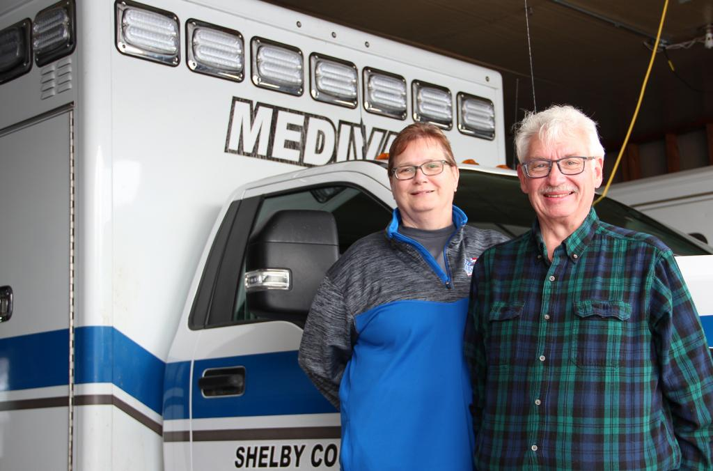 Nella and Bob Seivert, owner/operators of Medivac Ambulance/Rescue in Harlan, both were infected with COVID-19 but saw very different outcomes.  While Bob's symptoms were mild, Nella was hospitalized and continues to battle the disease nearly three months later.