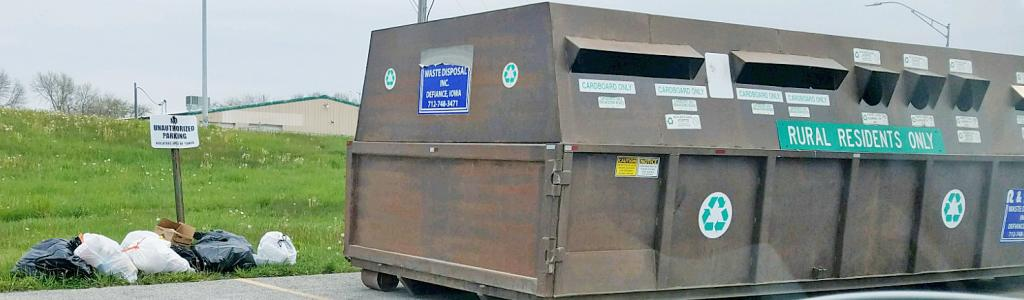 Recycling container removed