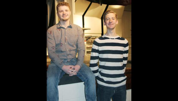 Parker Jones (left) and Andrew Shelton were selected for the all-state festival