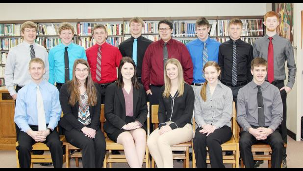 National qualifiers include Front L-R - Jay Swanson, Taylor Andersen, Ellen Keast, Alana Monson, Dani Arkfeld and Andrew Schechinger.  Back L-R - Jacob Bartley, Kyle Knudson, Tyler Buman, Eli Boldan, Adam Kohl, Tyler Schaben, Mason Peters and Thomas Fah.  Not pictured - C.J. Schechinger