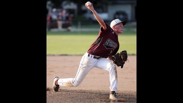 Exira-EHK junior Cole Burmeister pitched six innings of shutout baseball Friday night against Glidden-Ralston.