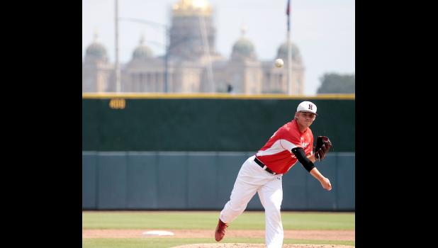 Harlan Community pitcher Joshua Cheek pitched six quality innings as the Cyclones beat Sioux City Heelan in Friday's state semifinals. Cheek has been the starting pitcher for three consecutive Cyclone state semifinal wins.