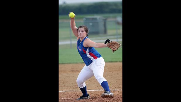 AHSTW pitcher Haley Constable in regional action.
