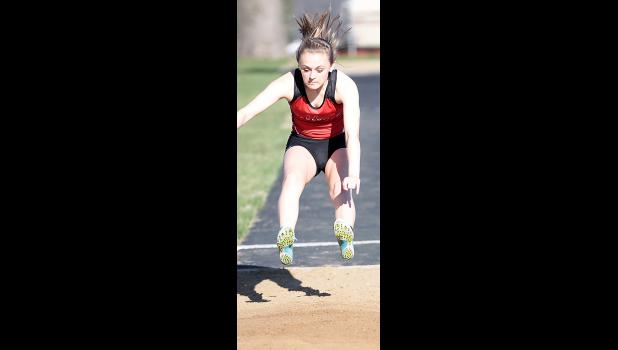 HCHS freshman Christabel Deas placed eighth in the long jump on Thursday.