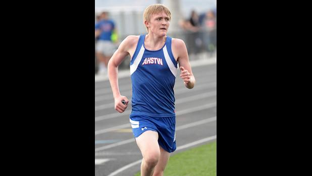 AHSTW senior Dalton Fischer placed second in the 3,200 and third in the 1,600.