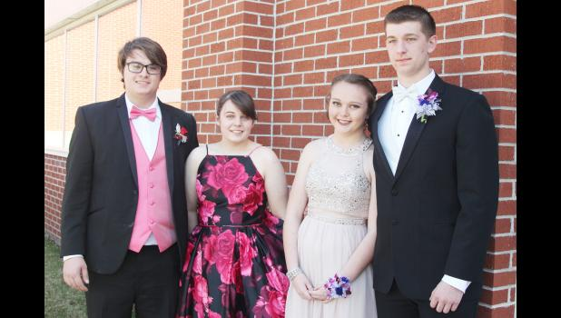 All dressed up and ready for the night's activities were L to R -- Garren Odom, Natalie Harris, Mia Nelson and Anthony Kingery.