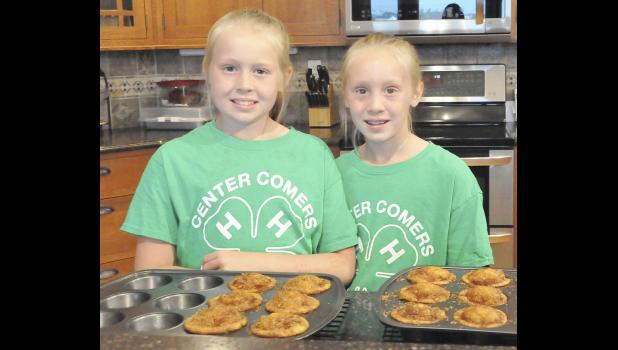 This will be the last year Carleigh and Camryn are considered Clover Kids.  One of their entries for the fair this year will be apple pie muffins.  Camryn said the hardest part about making muffins is the measuring and fractions.