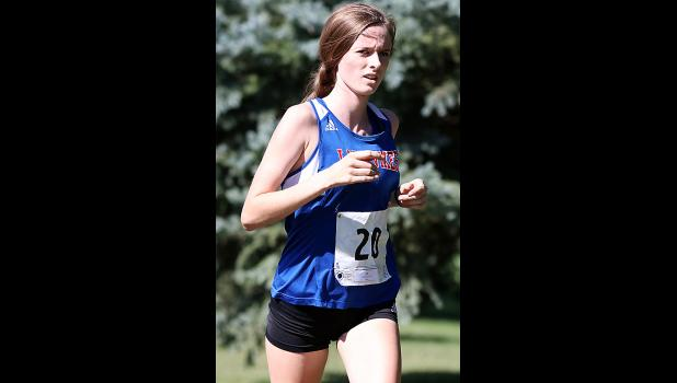 Chloe Falkena paced the AHSTW girls with a ninth-place finish at the Cyclone Invite.