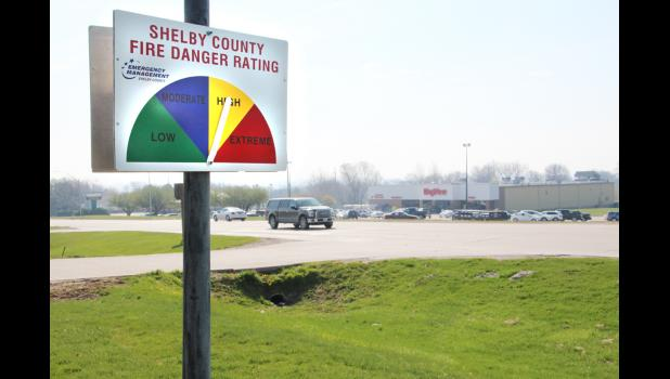 The sign is located across from Hy-Vee near Sorensen Equipment and the Cenex gas station.  (Photo by Alan Mores)