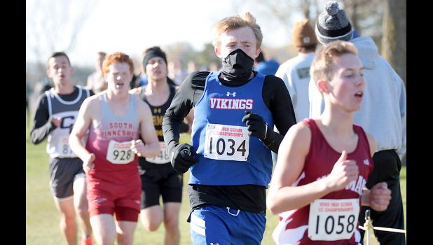 AHSTW senior Dalton Fischer (1034) placed 60th with a time of 17:45 in the Class 1A boys state meet.
