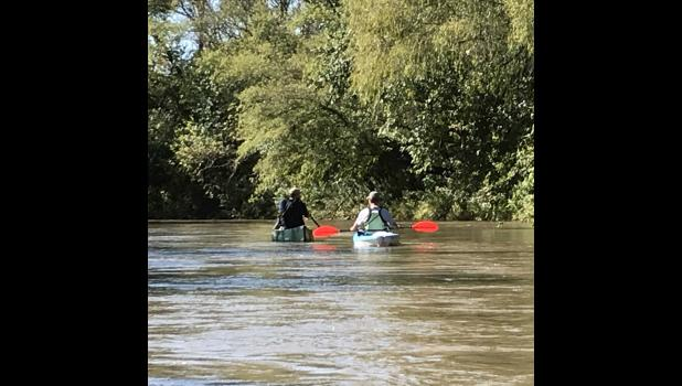 City officials floated the West Nishnabotna River last year as part of research regarding river access.