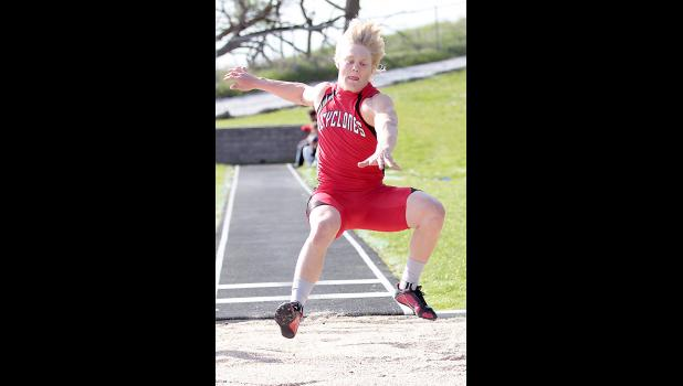 HCHS junior Nick Foss claimed Thursday's Hawkeye Ten Conference boys long jump gold medal with a new personal-best of 22 feet, 1.75 inches.