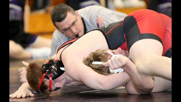 Cyclone sophomore Jesse Schwery pinned two of his three opponents and placed third at the sectional meet.